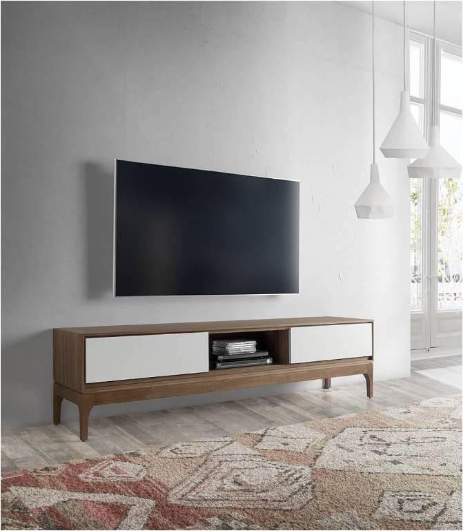 70080 Mueble de televisin nrdico bellini nogal 180