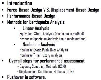 Performance Based Design of Structures