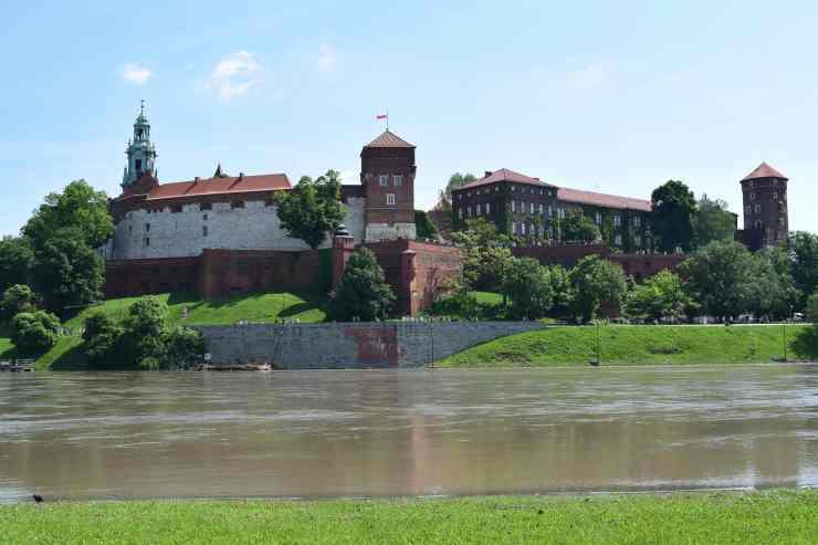 Vue du château depuis la Vistule