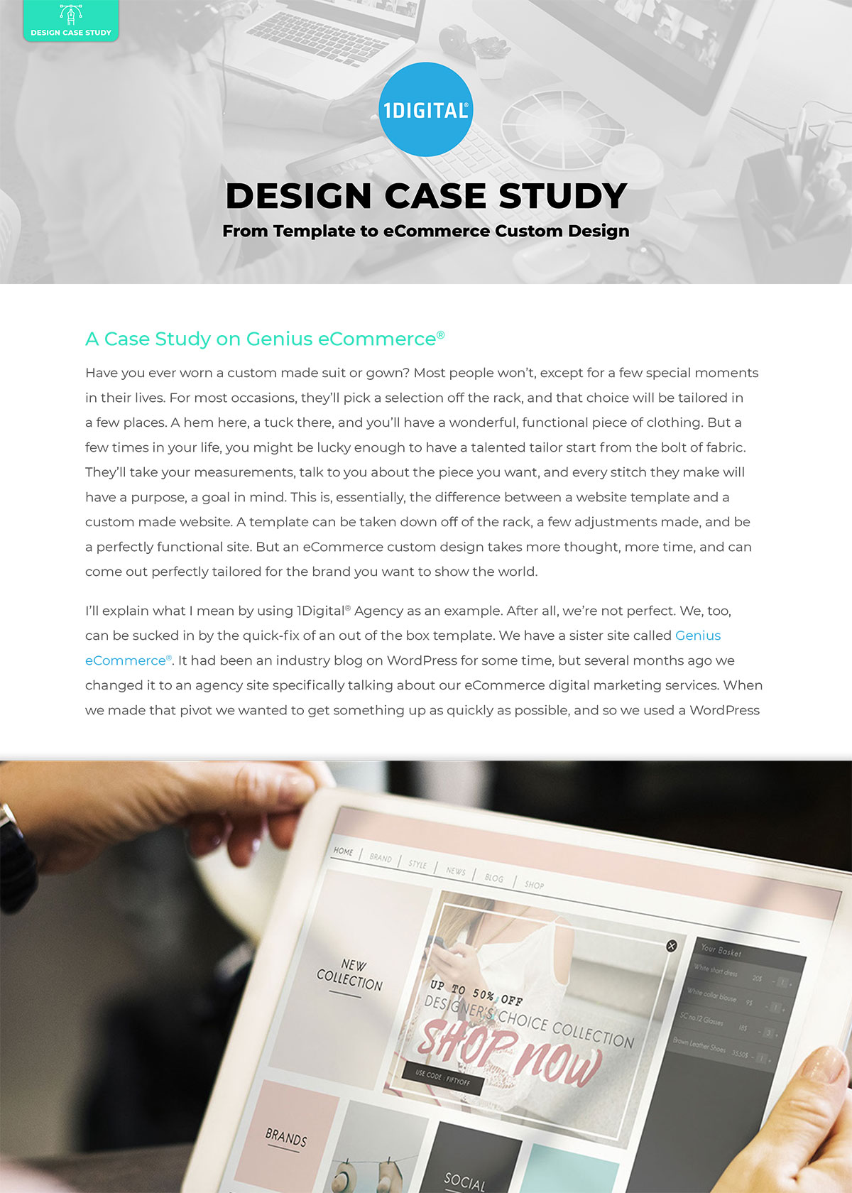 From Template to eCommerce Custom Design