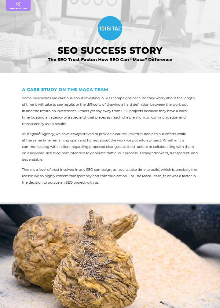 "The SEO Trust Factor: How SEO Can ""Maca"" Difference"