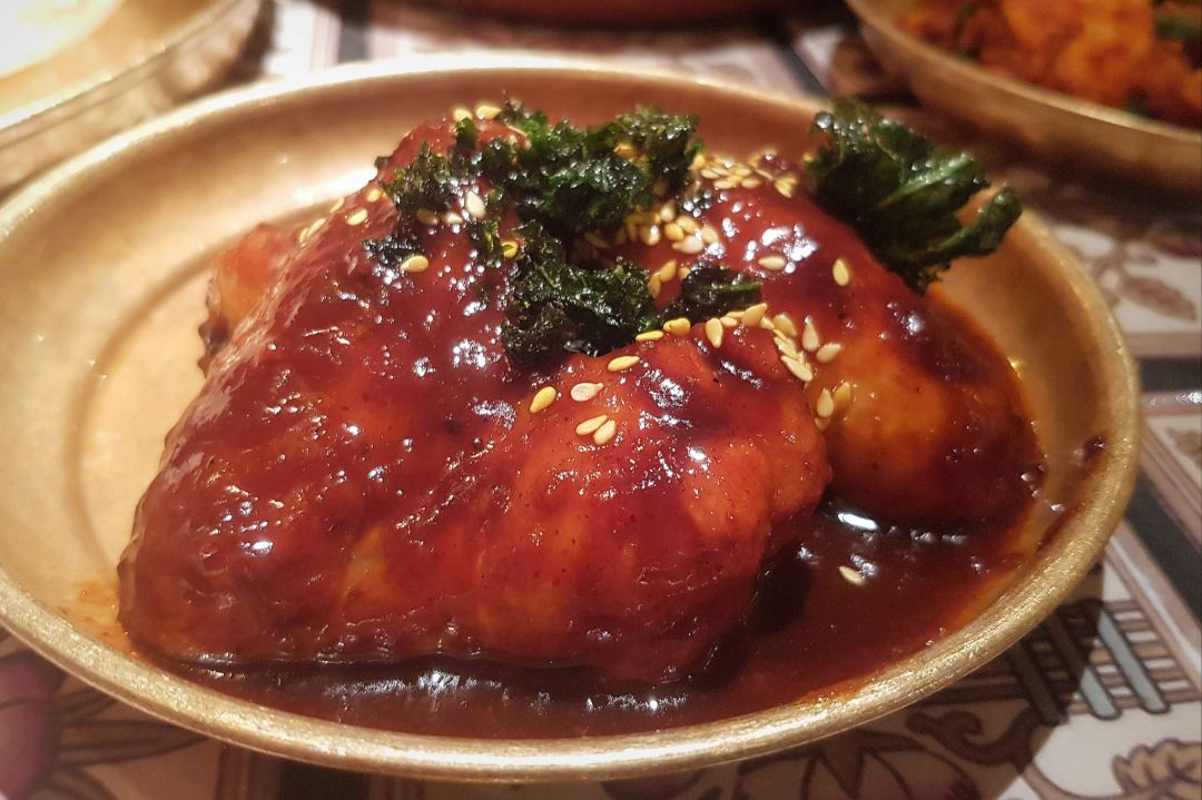 Hoppers London's take on chicken wings - tangy with tamarind and ginger