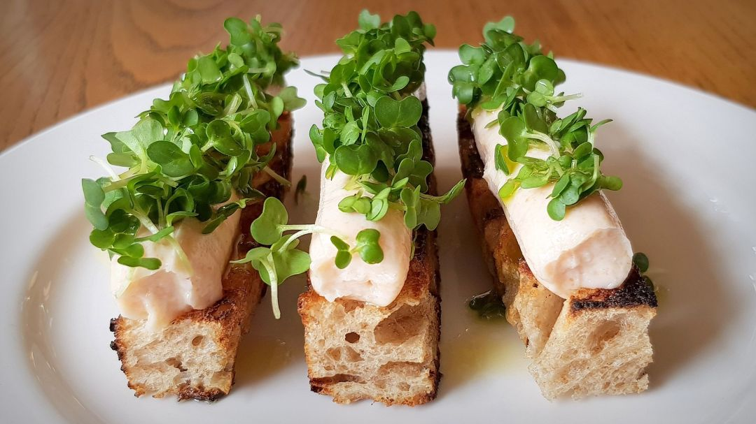 Review of Brat restaurant London, where a dish of whipped cod's roe is a winning starter
