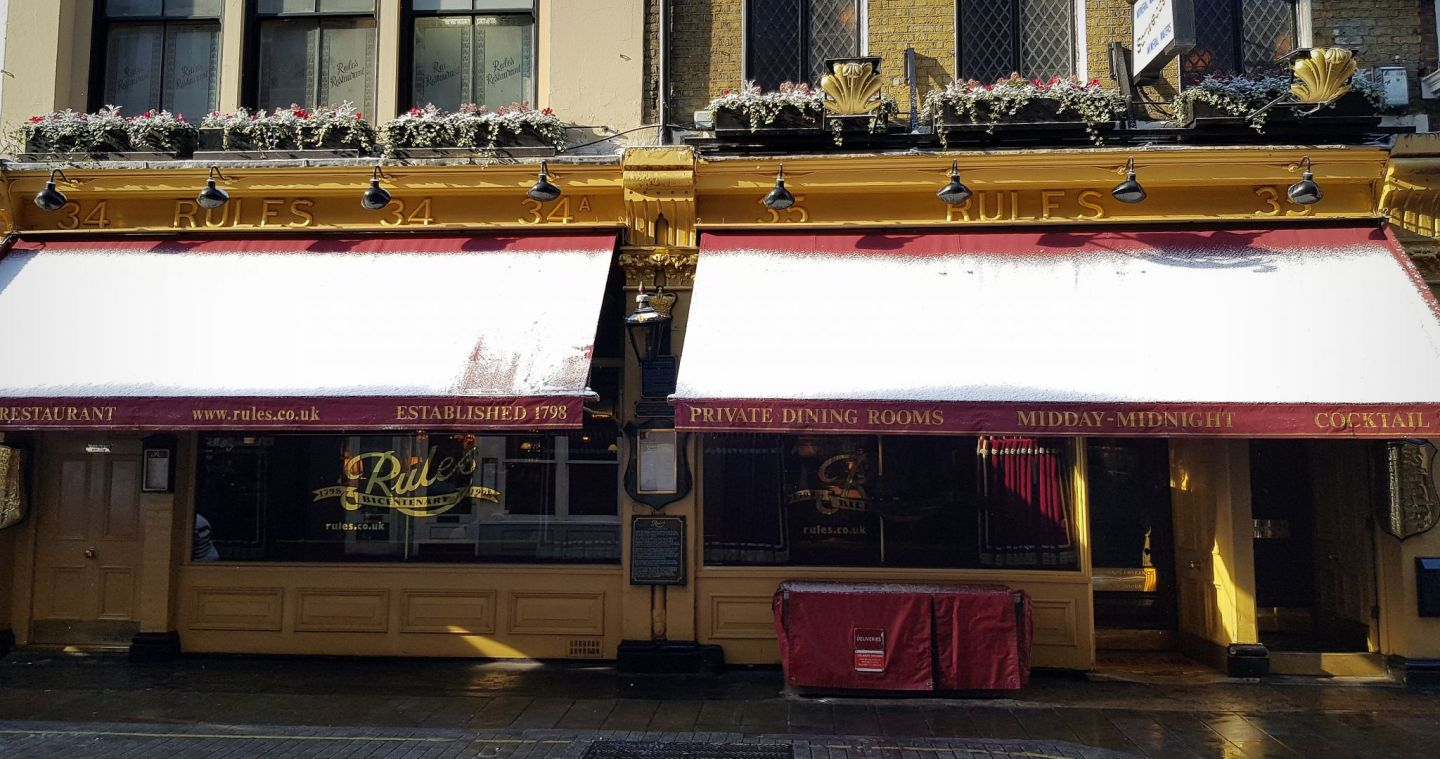 Rules Restaurant London is the oldest restaurant in London, dating back to 1798