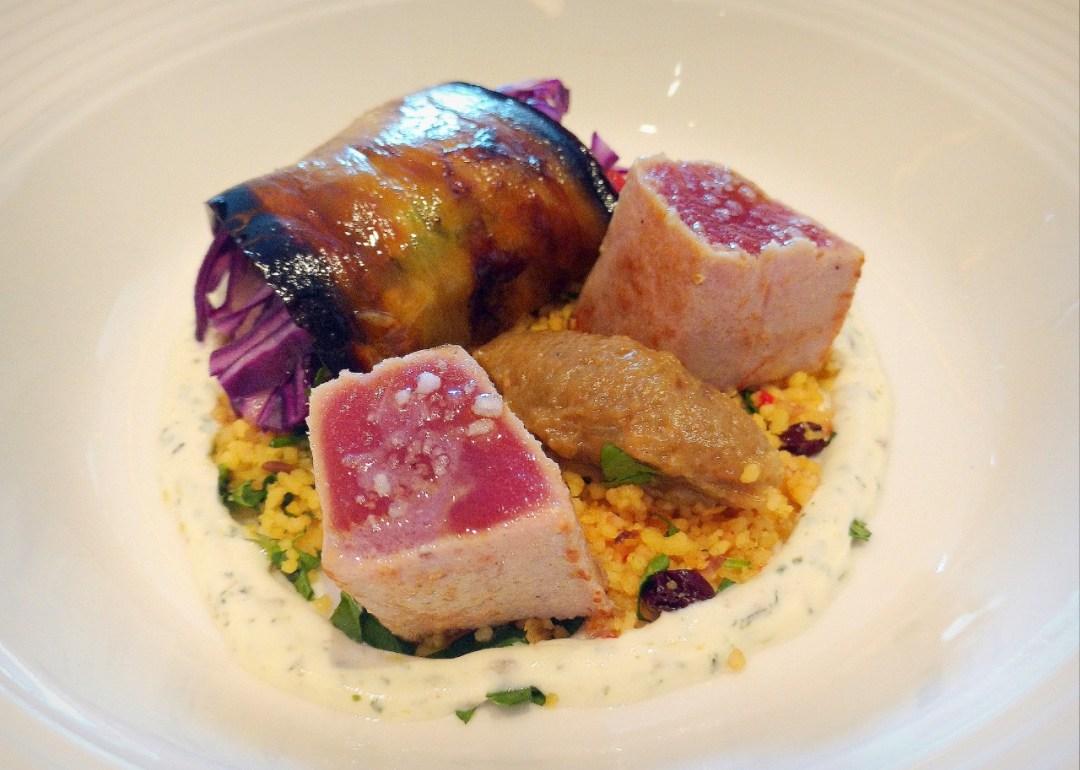 Tuna dish, showing the chef's imaginative use of presentation.