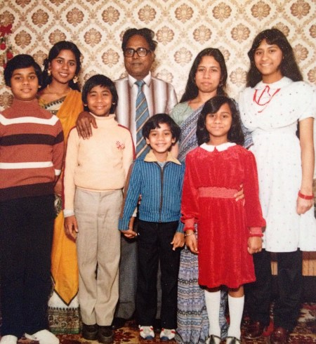 Photograph of Author Shahnaz Ahsan family from the 1970's including her grandparents, immigrants from Bangladesh