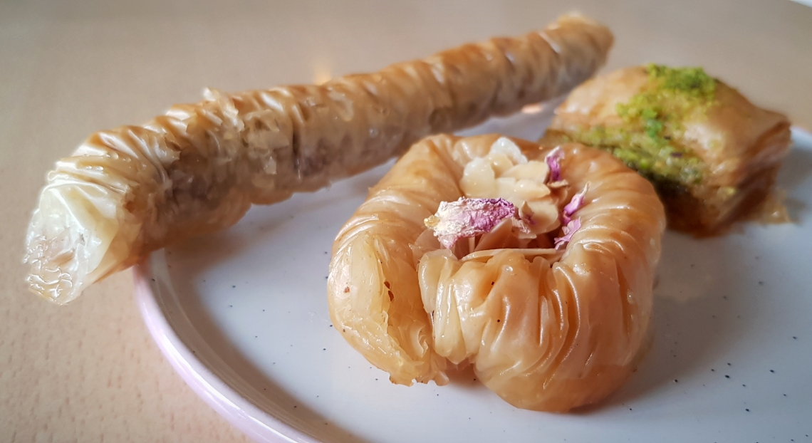 The baklava at Nandine in Camberwell are the best in London, dripping with rosewater syrup, spices and nuts.