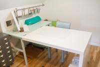 An Ikea Hack Craft Desk Makeover - One Dog Woof
