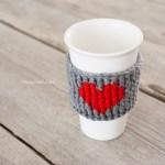 Heart Cup Cozy Crochet Pattern One Dog Woof
