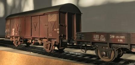 Gealterte Güterwagen
