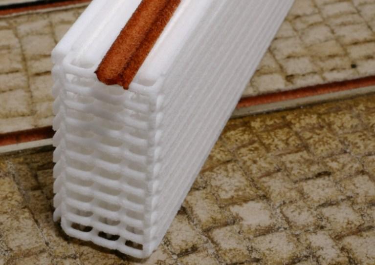 3D-gedruckte Rillenschiene