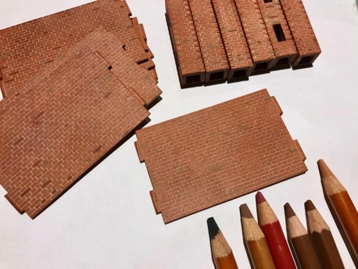 Buntstifte für Ziegelmauerwerk