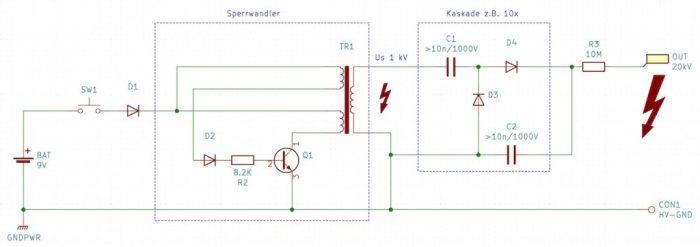 Schaltplan Batteriebetrieb