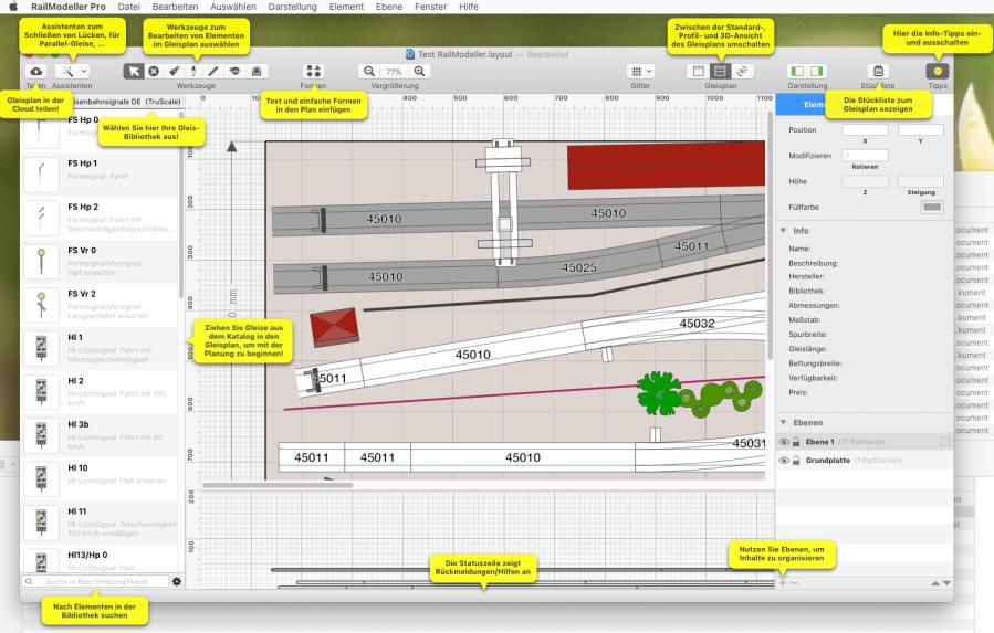 Startbildschirm Railmodeller