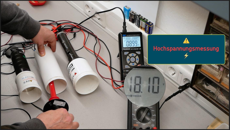 Hochspannungsmessung, der Batterievergleich