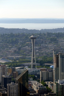 Space Needle vue de la columbia center Seattle