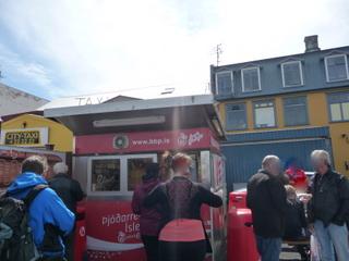 Stand de hot dog près du port, Reykjavik