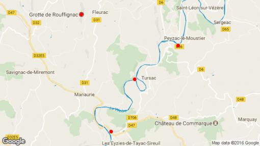 Sites visités Périgord Noir