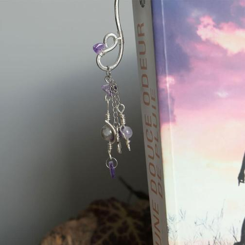 marque page alu amethyste wire wrapping 4