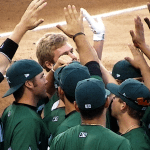 Baseball players celebrating the momentum effect