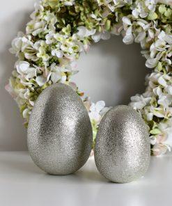 Dekoračné vajíčko SILVER-GREEN