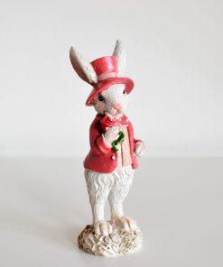 Dekoračný zajac ružový