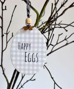 Dekoračné vajíčko Happy eggs.