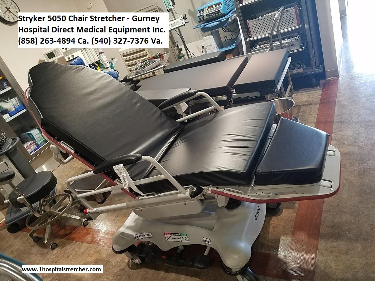 Stryker 5050 Chair Stretcher Gurney  Hospital Beds