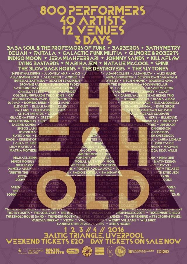 Threshold Festival 2016 artists