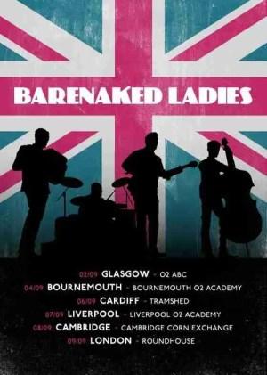 Barenaked Ladies UK Tour Poster