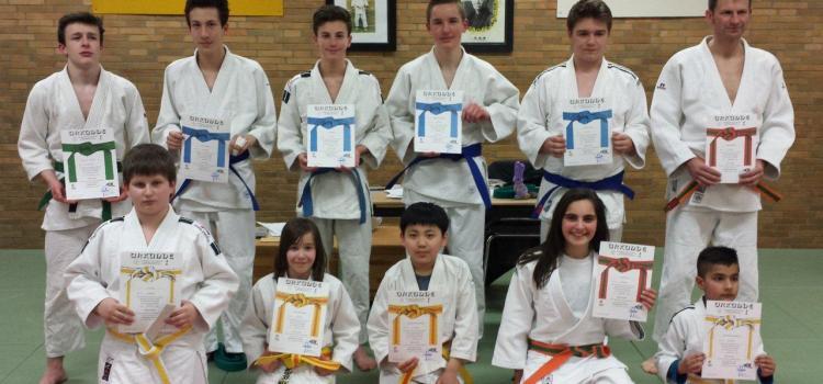 Judoka belohnen sich mit toller Prüfung zu Ostern