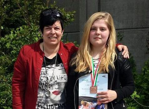 Hannah Berkenkopf holt Bronze auf der WDEM der U 15