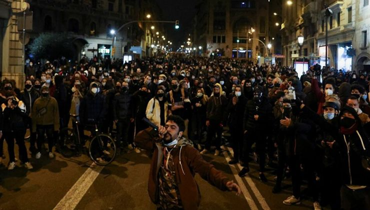 Rapçi Pablo Hasel'in tutuklanmasına karşı protestolar 7'inci gününde