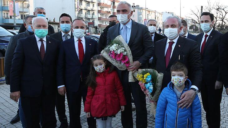 TBMM Başkanı Mustafa Şentop ve Bakan Ersoy Lapseki Belediyesini ziyaret etti