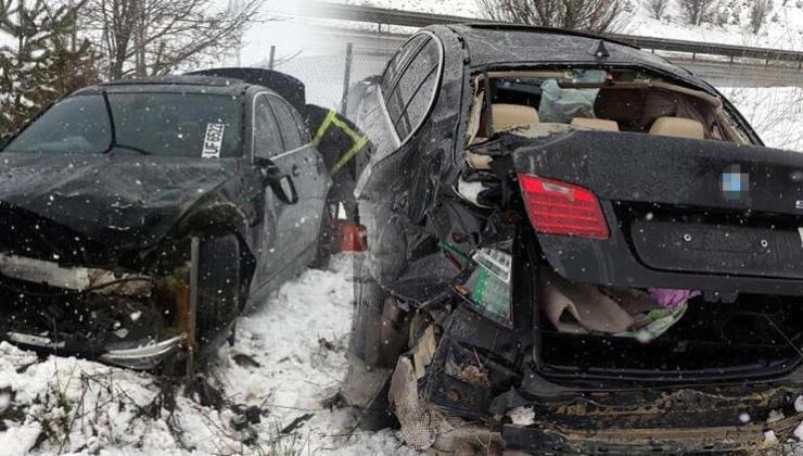 Otomobil bariyere çarptı! 3 kişi yaralandı