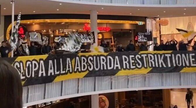 AIK taraftarından zeka kokan corona protestosu