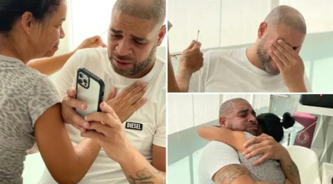 Brezilya efsanesi Adriano'yu ağlatan haber!