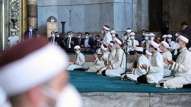Cumhurbaşkanı Erdoğan, Ayasofya'da icazet törenine katıldı