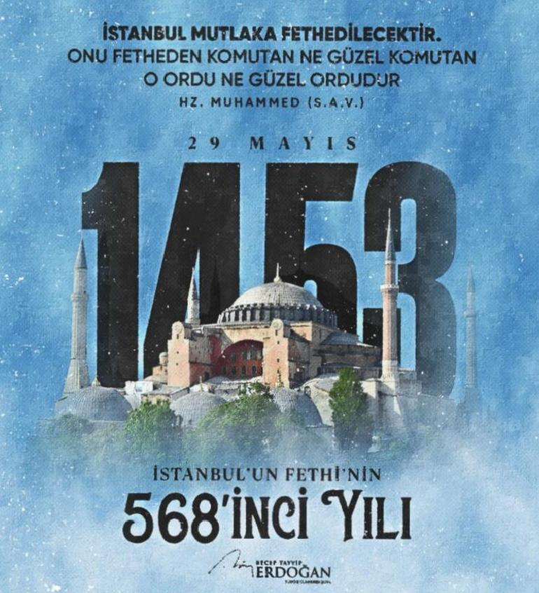 cumhurbaskani erdogandan istanbulun fethi mesaji 0 yQFM58Hb
