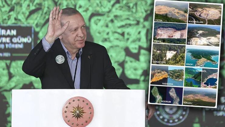 """Erdoğan, """"Görevi devraldığımda ağaç mağaç yoktu"""" dedi sosyal medyada tepki yağdı"""