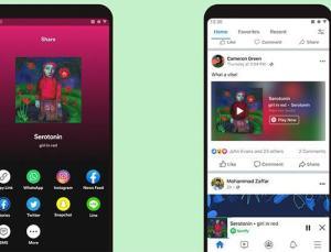 Facebook yeni Spotify hizmetini devreye aldı
