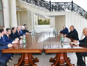 Azerbaycan Cumhurbaşkanı İlham Aliyev,  Kurtulmuş'u kabul etti