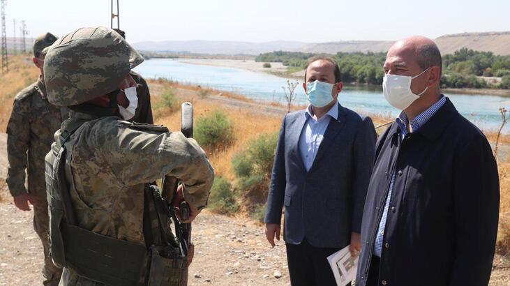 bakan soylu, türkiye-i̇ran sınırındaki güvenlik duvarını inceledi