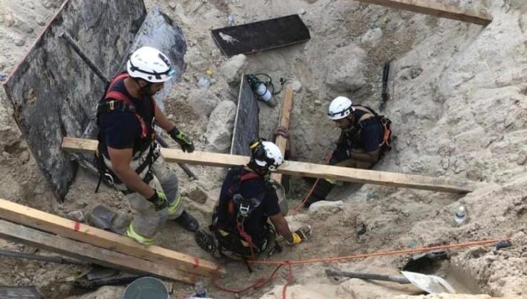 havalimanı inşaatında toprak kayması: i̇ki işçi öldü
