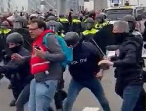 hollanda'da konut krizi büyüyor: polisten göstericilere sert müdahale
