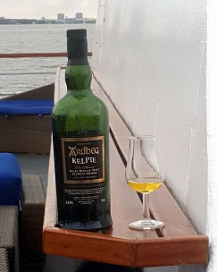 Ardbeg Day - Kelpie launched and underway