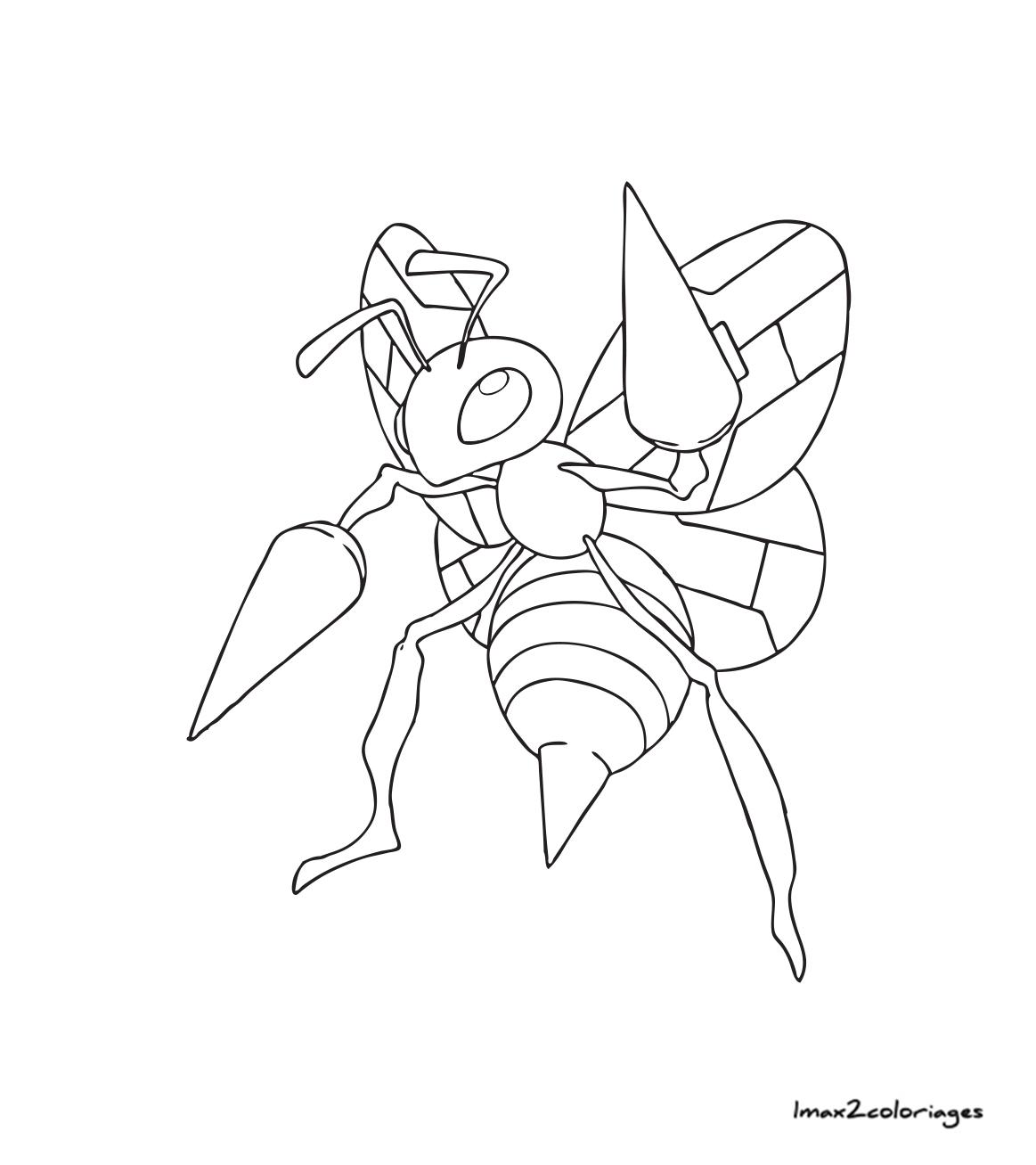 Coloriage Pokemon Mega Dardargnan