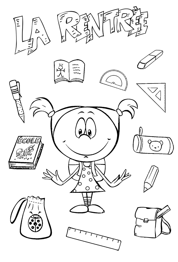 Coloriages Ecole Rentree Scolaire L