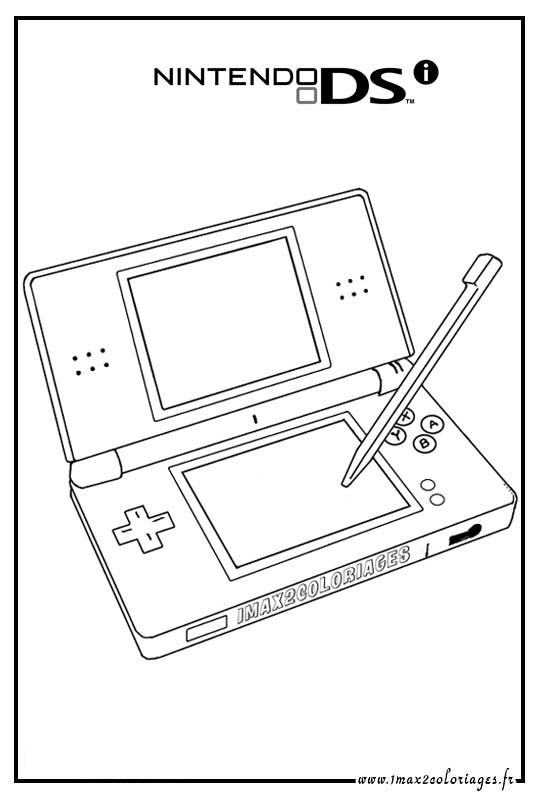 Nintendo Ds Coloring Pages Coloring Pages