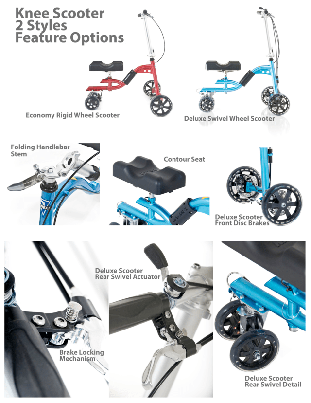 Knee Scooter Styles and Features for Sale